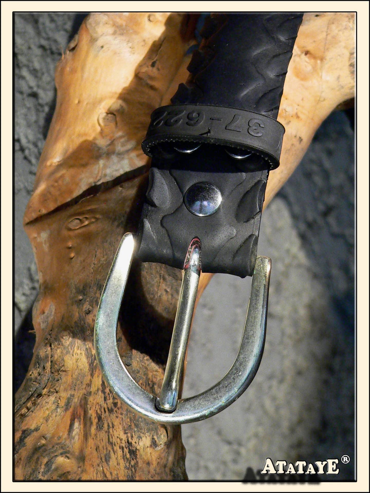 Atataye ceinture-113-ceinture pneu velo-ceinture homme femme enfant-recyclage pneu-creation-bordeaux-upcycling-creation ceinture pneu