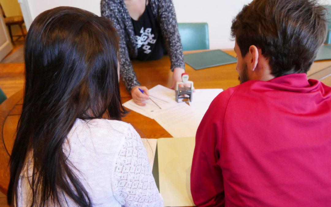 Le Pacte civil de solidarité (PACS) enregistré en mairie
