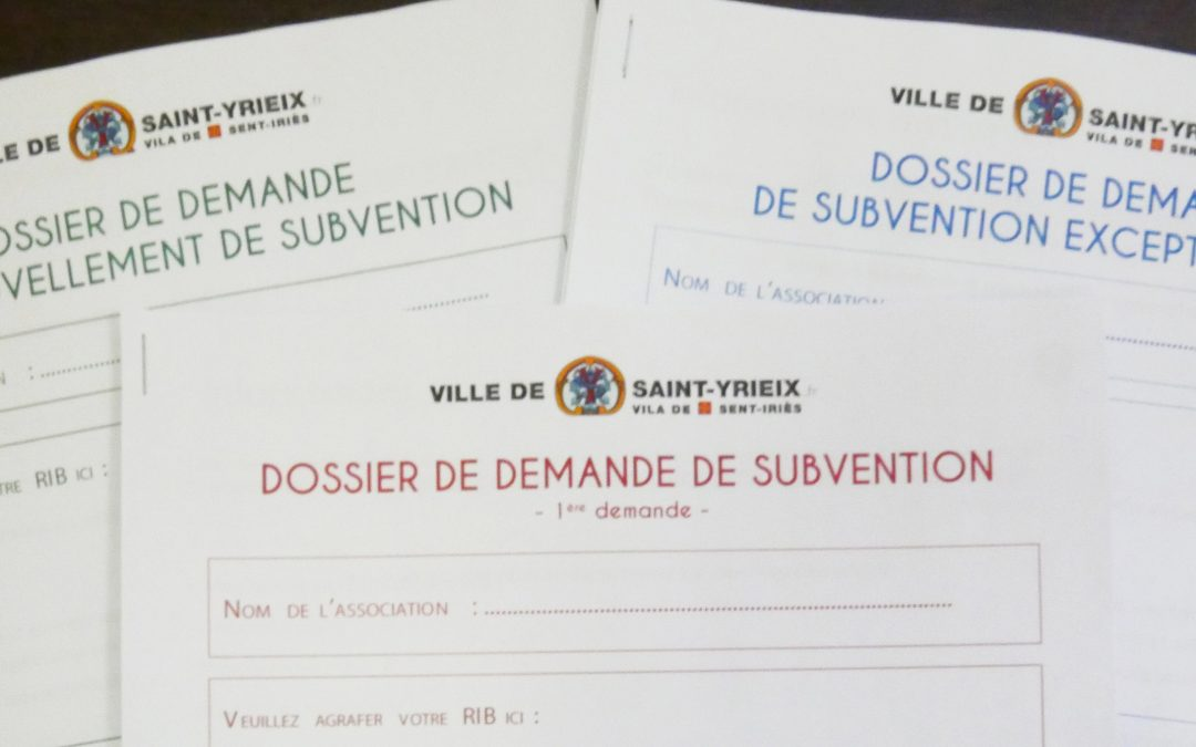 Dossiers de subventions aux associations