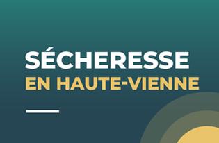 Le département de la Haute-Vienne placé en crise sécheresse